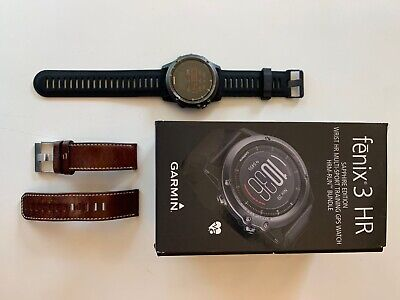 Garmin Fenix 3 HR Sapphire Watch GPS Sport Triathlon Fitness Running Ship