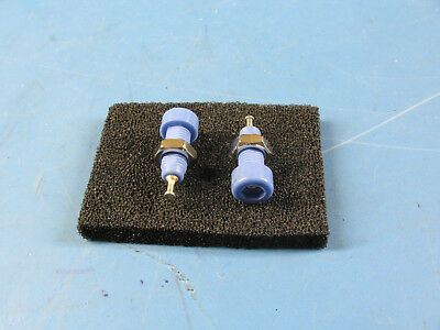 2pcs Blue Insulated Panel Mount Test Lead Pin Jacks Test Points Whardware