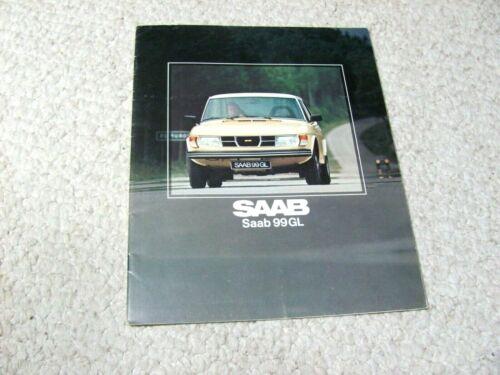 1978 SAAB 99GL (UK) SALES BROCHURE....