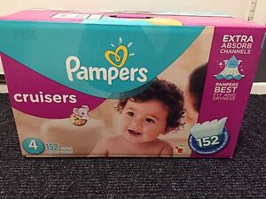 Unopened Box of Size 4 Pampers Cruisers