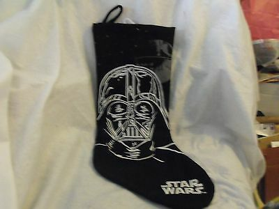 Star Wars Christmas Stocking, Darth Vader, Felt Fabric with Embroidery, No Tags