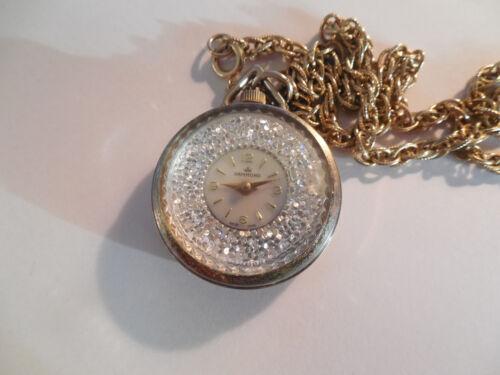 Hammond ladies vintage pocket, pendant necklace watch working