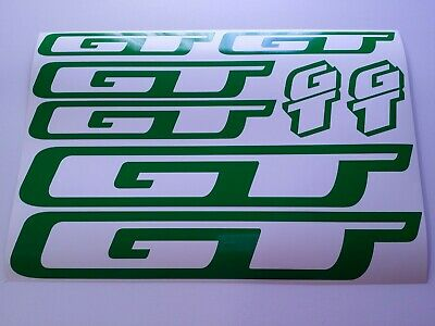 "2 FREE SHIPPING 5 3//4/"" GT DYNO Stickers bmx YELLOW//WHITE//BLACK//CHROME Set of"
