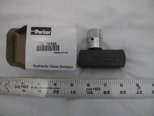 (1) NEW Parker F600S Flow Control Hydraulic Valve Steel, 3/8-18, 8 GPM