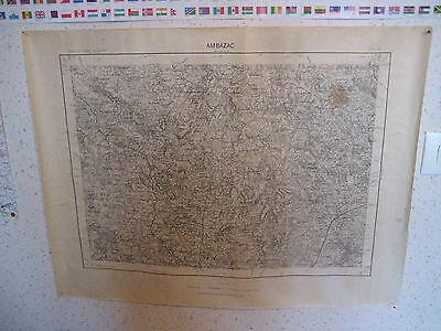 Carte plan topographique Ambazac 1/50000°