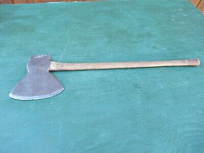 ANTIQUE Hewing BROAD AXE Steel DOUBLE SIDED Head 9+