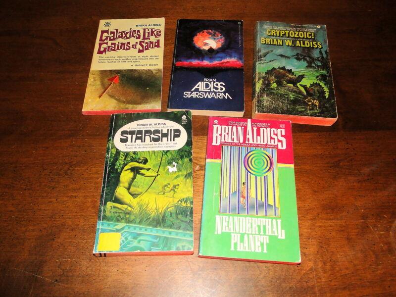 Brian W. Aldiss used paperback book lot science fiction fantasy genre