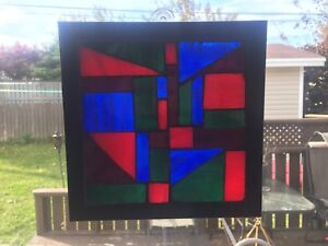 Hand Crafted Mosaic Stained Glass Picture Frame!!!