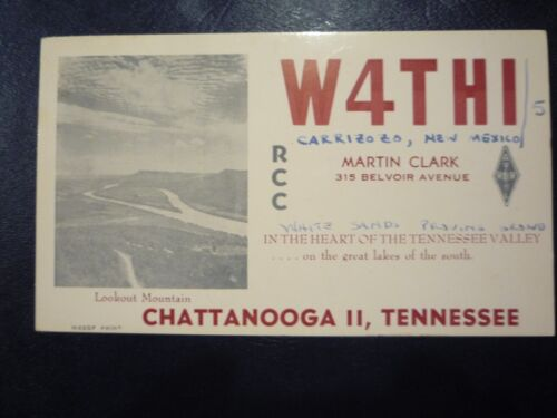 Vintage 1955 QSL CHATTANOOGA, TN & CARRIZOZO, NM - MARTIN CLARK W4THI