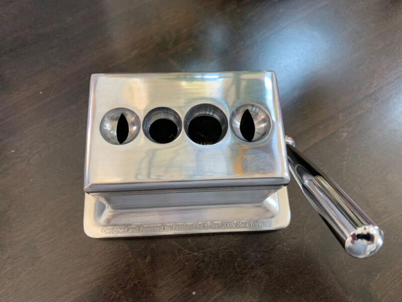 QUAD TABLE TOP CIGAR CUTTER Stainless body~and Brand New In Box!