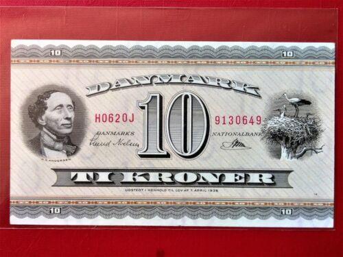 1962 DANMARK 10 KRONER (Replacement note) BANKNOTE