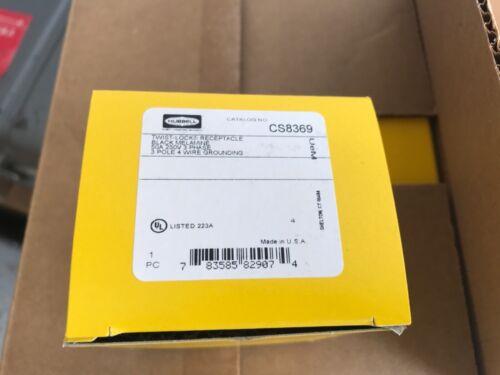 NEW IN BOX Hubbell CS8369, Recept,50A,3P, 4W Twist Lock