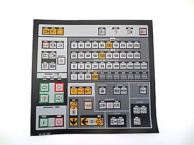Cnc Machine Keypad Replacement Membraneoverlay 11-13-00. Nos
