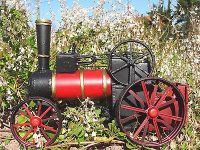 Traktor Blech Dampftraktor Dampfzugmaschine Lokomotive Dekoration Geschenk Kult