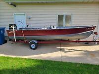 1976 Lund S16 Side console Aluminum Fishing Boat 50hp Mercury