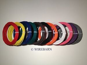 AUTOMOTIVE  WIRE - 22 GAUGE -HIGH TEMP TXL WIRE - 11 COLORS - 25' EACH COLOR