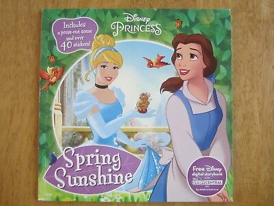 (Disney Princess Spring Sunshine NEW Paperback Press-Out Scene 40+ Stickers)