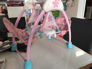 Balancelle/ chaise haute pour poupée jumelles