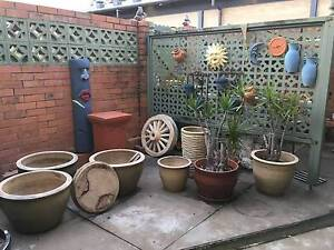 Terracotta and glazed ceramic pots - range of sizes and colours Albany Creek Brisbane North East Preview