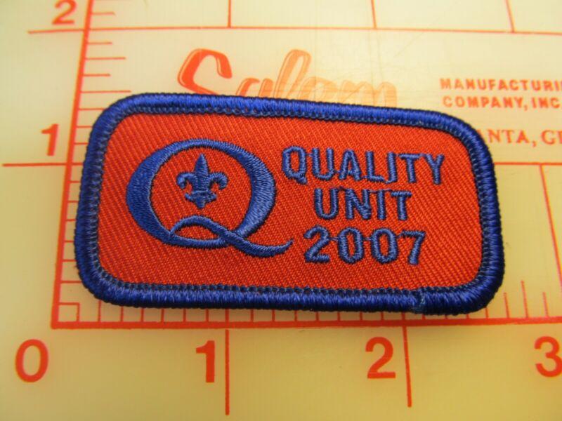 Quality Unit 2007 collectible blue border patch (m10)