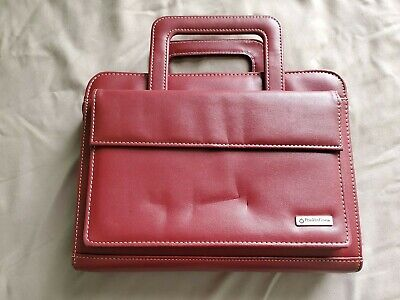 Womens Franklin Covey Leather Planner With Retractable Handle