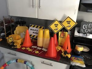 Construction theme party supplies