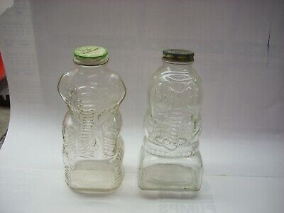 Vintage Grapette Products & Lucky Jumbo Castle Products Glass Elephant Banks