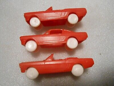 3 Vintage F&F Mold 1966 Ford Mustang Post Cereal Premium Cars
