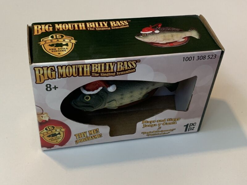 Big Mouth Billy Bass Singing Christmas Xmas Ornament New In Box! Sings 2 Songs
