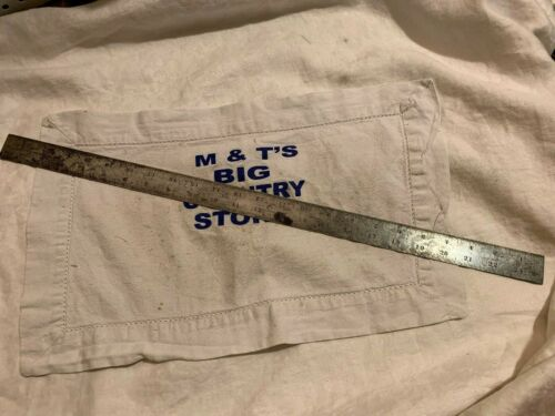 "Vintage L.S. Starrett Ruler 24"" Long Tempered No. 4 #368 USA"