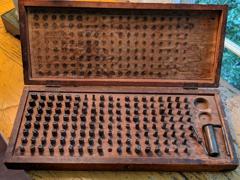 Antique Dentistry Tooth Form Die Set Central Tool S.S. White Dental MFG. 1910