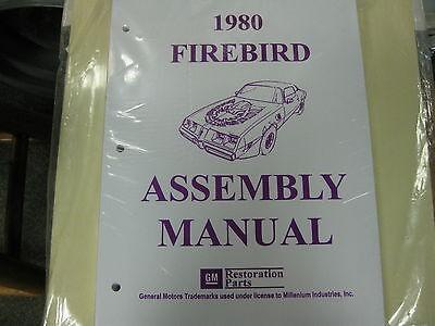 1980 80 FIREBIRD & TRANS AM (ALL MODELS) ASSEMBLY MANUAL