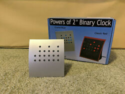 Crystal Blue Powers of 2 Binary Clock Silver Blue LED, Brand New in Box