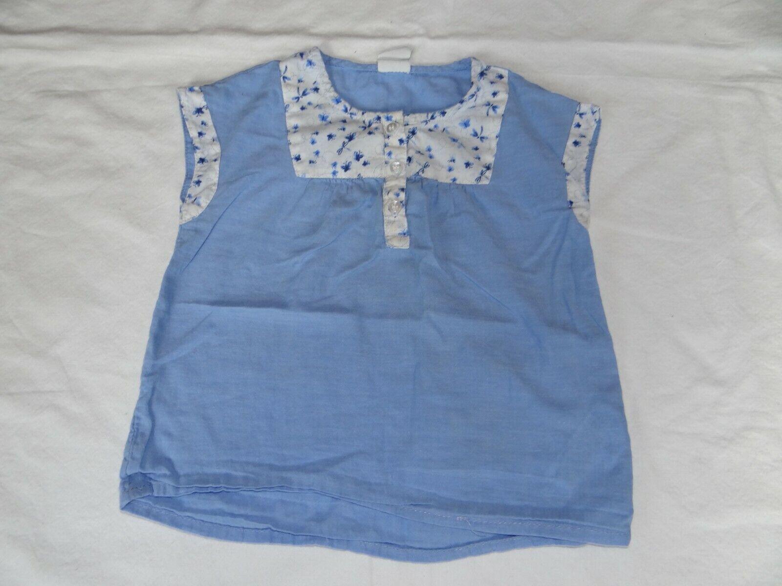 Baby Tshirt blau Größe 86