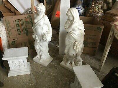 Marble Statues Four Seasons Pair