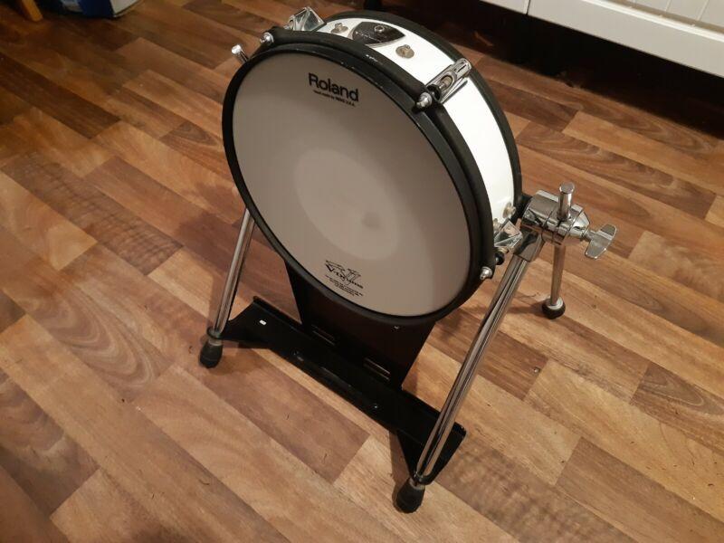 Roland KD120 White Electronic Bass Kick Drum Trigger Pad (80 85 140)