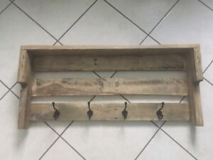 Homemade Pallet Coat Racks