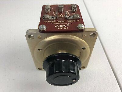 Variac 120v Ac 2.4a 350hz Variable Transformer General Radio Company Type M2 Wh