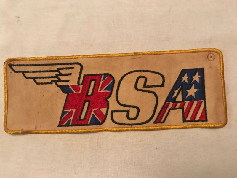 B S A Motorcycle Vintage Cloth Patch