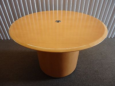 Steelcase Convene 42 Round Conference Table Or Desk Table With Drum Base