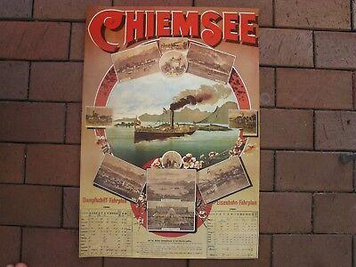 Plakat  Werbeplakat  Poster   Reklame  Fahrplan - Chiemsee
