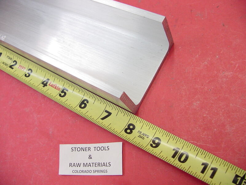 "3""x 1.75"" ALUMINUM CHANNEL 6061 X .26"" Flang 8"" long T6 .13"" Web Mill Stock"