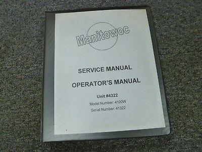 Manitowoc 4100w Crawler Crane Owner Operator Shop Service Repair Manual