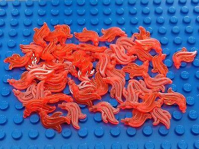 64647 X 20 nuevo. Lego: Trans Neón Naranja Minifig Plume//Pluma//Llama.