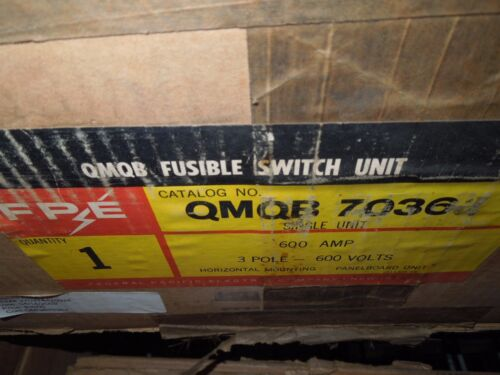 FPE QMQB7036J 600A 3ph 3P 600V 3PH Fusible Panel Switch Unit New Surplus