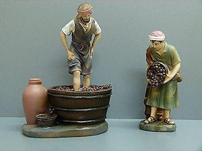 Krippenzubehör Krippenfiguren Zusatzfigur Weinlesefest 2tlg K930-11