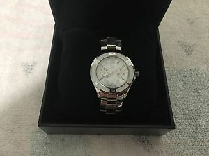 GUESS Watch Swiss Made Brand New In Black Leather Box Norwood Norwood Area Preview