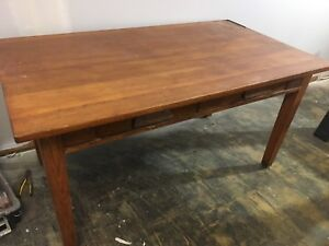Solid tiger oak Mission style desk