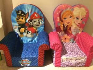 Paw Patrol and Frozen Toddler Chairs
