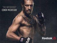 BlackGrey Mens Reebok UFC Snapback Hat